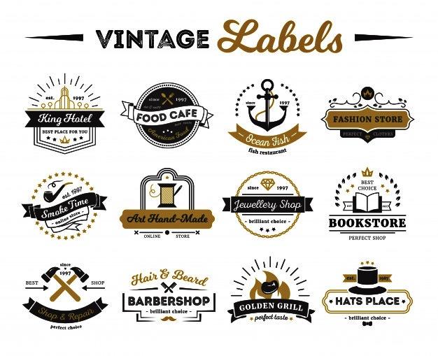 logo makanan vintage free