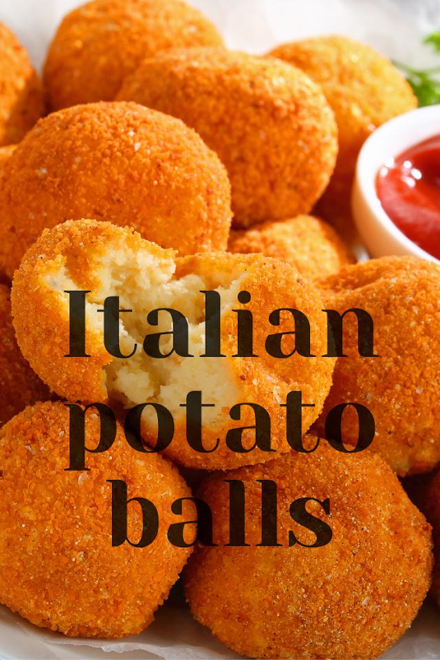 How to make Italian potato balls