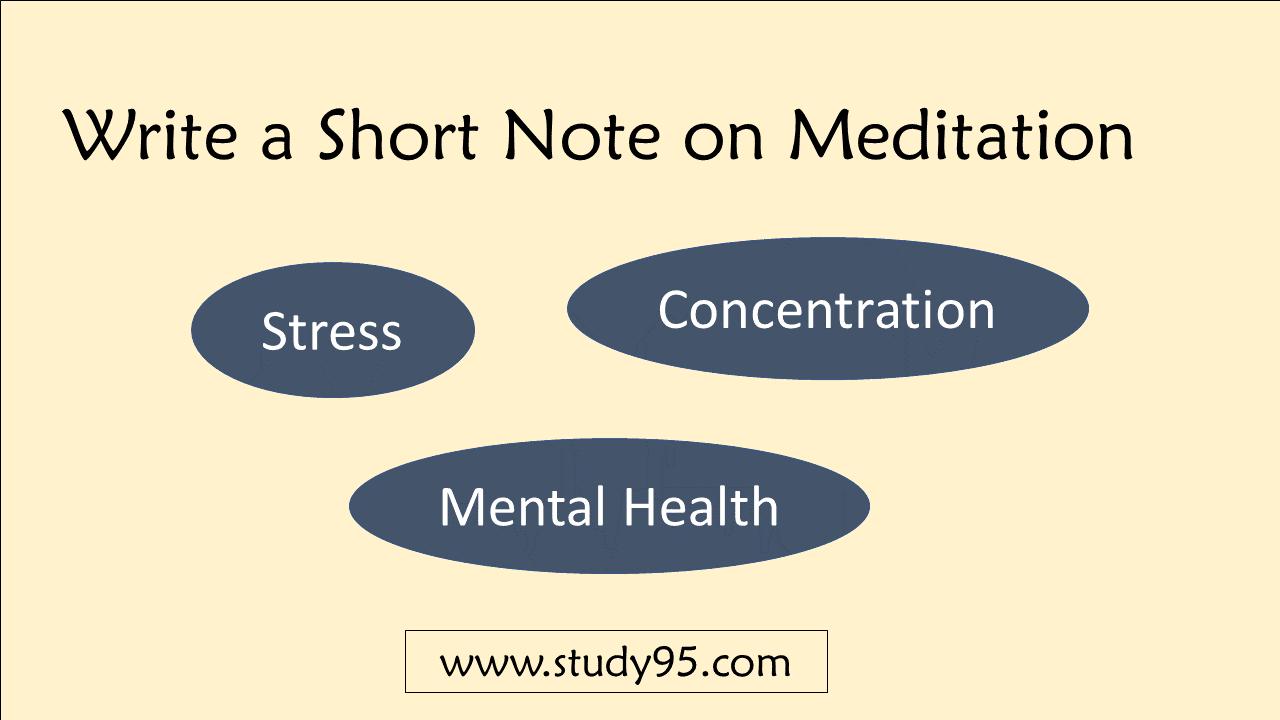 Short Note on Meditation