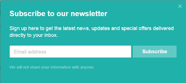 Email and newsletter subscribe widget for blogger