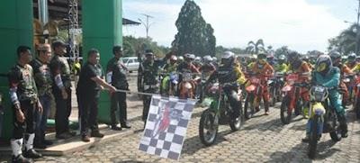 Jelang HUT Kemerdekaan, 500 Rider Nusantara Berpetualang di Alam Eksotis Kubar