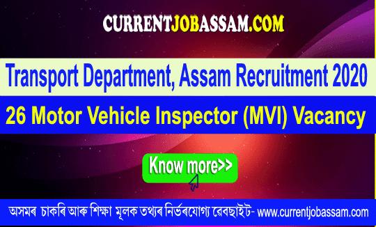 Transport Department, Assam Recruitment 2020