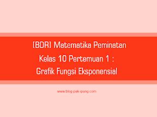[BDR] Matematika Peminatan Kelas 10 Pertemuan 1 : Grafik Fungsi Eksponensial