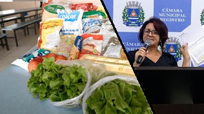 Alimentação escolar para todos: Ver. Sandra Kennedy comemora entrega da merenda para famílias dos alunos
