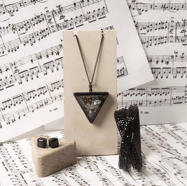 Black Beveled Glass Prism Living Locket at StoriedCharms.com