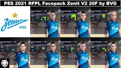 PES 2021 RFPL Facepack Zenit V2 26F by BVG