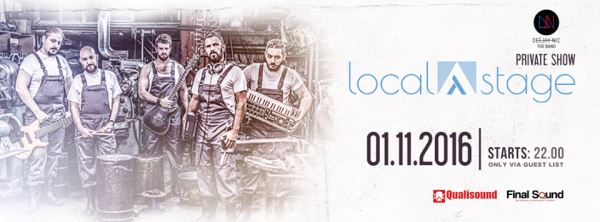 DEEJAY NIC THE BAND: Τρίτη 1 Νοεμβρίου, Online Private Show @ Localstage