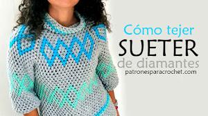 Suéter en punto puff tejido a crochet paso a paso PDF