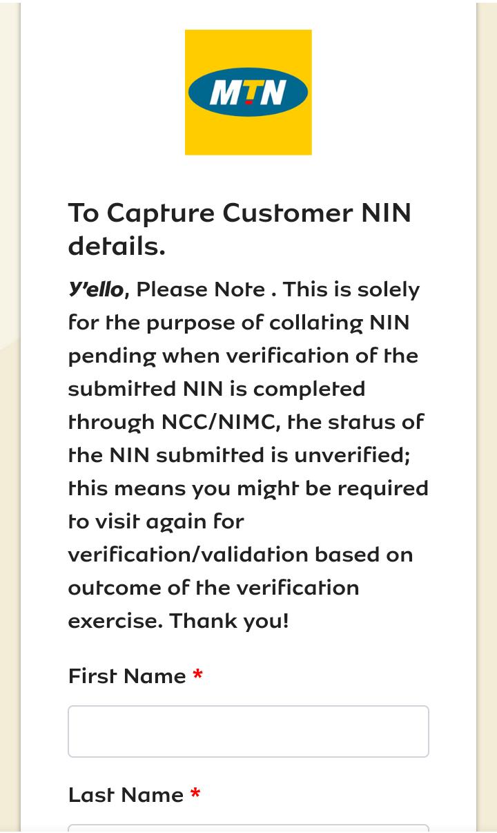 link nin to mobile number