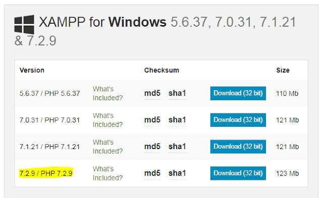 Installing XAMPP on Windows