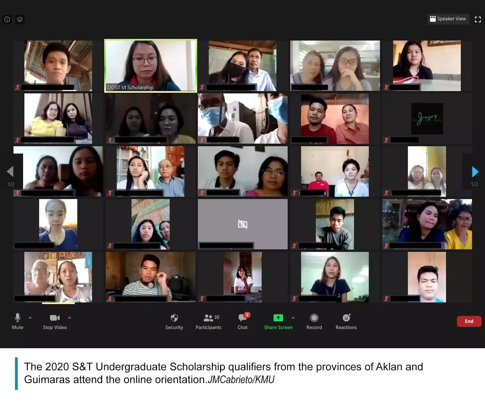 2020 S&T Scholarship Orientation