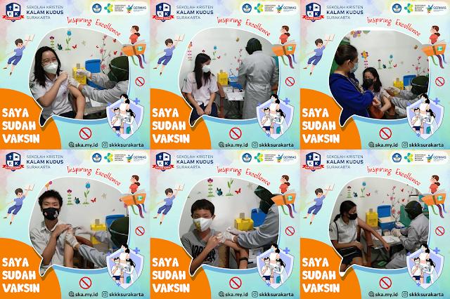 Vaksinasi SMP Sekolah Kristen Kalam Kudus Surakarta