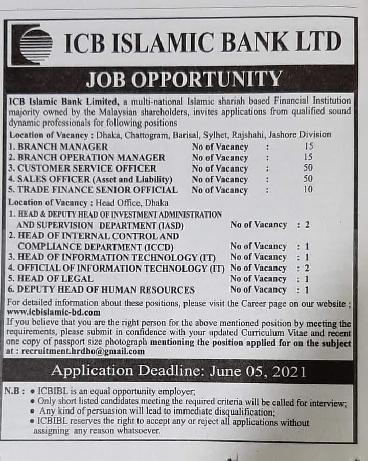 ICB Job Circular 2021