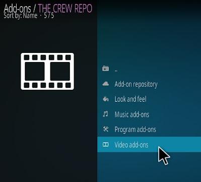 انقر على الوظائف الاضافية للفديو ( Video add-ons )