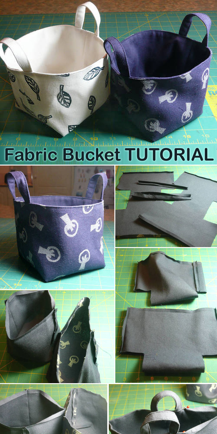 Fabric Bucket TUTORIAL and PATTERN