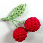 patron gratis cerezas amigurumi | free amigurumi pattern cherries