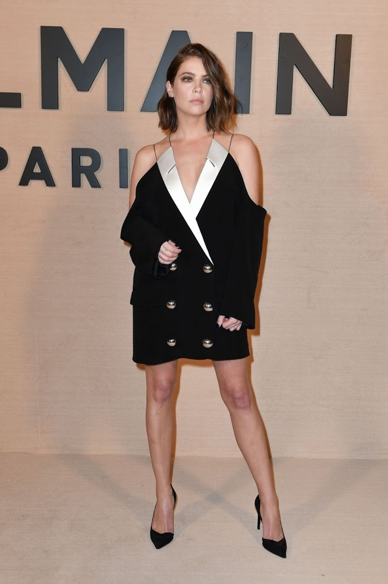 Ashley Benson Clicks at Balmain Fashion Show in Paris 25 Feb-2020