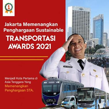 Jakarta Jadi Kota Pertama di Asia Tenggara Raih Penghargaan Sustainable Transport Award
