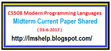 vu midterm paper Virtual university students can download virtual university past papers of every  subject for free and get benefits from study sharing services like sharing lectures .