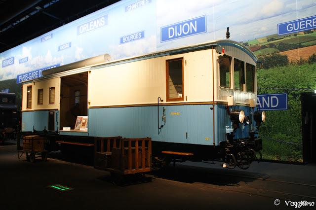 Carrozza esposta al Museo Ferroviario di Mulhouse