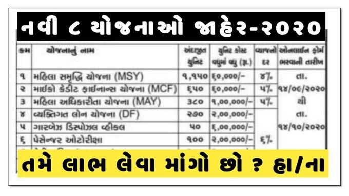 Mahila Samridhi Yojna (MSY) & Gujarat Shafai Karmchari New Scheme 2020