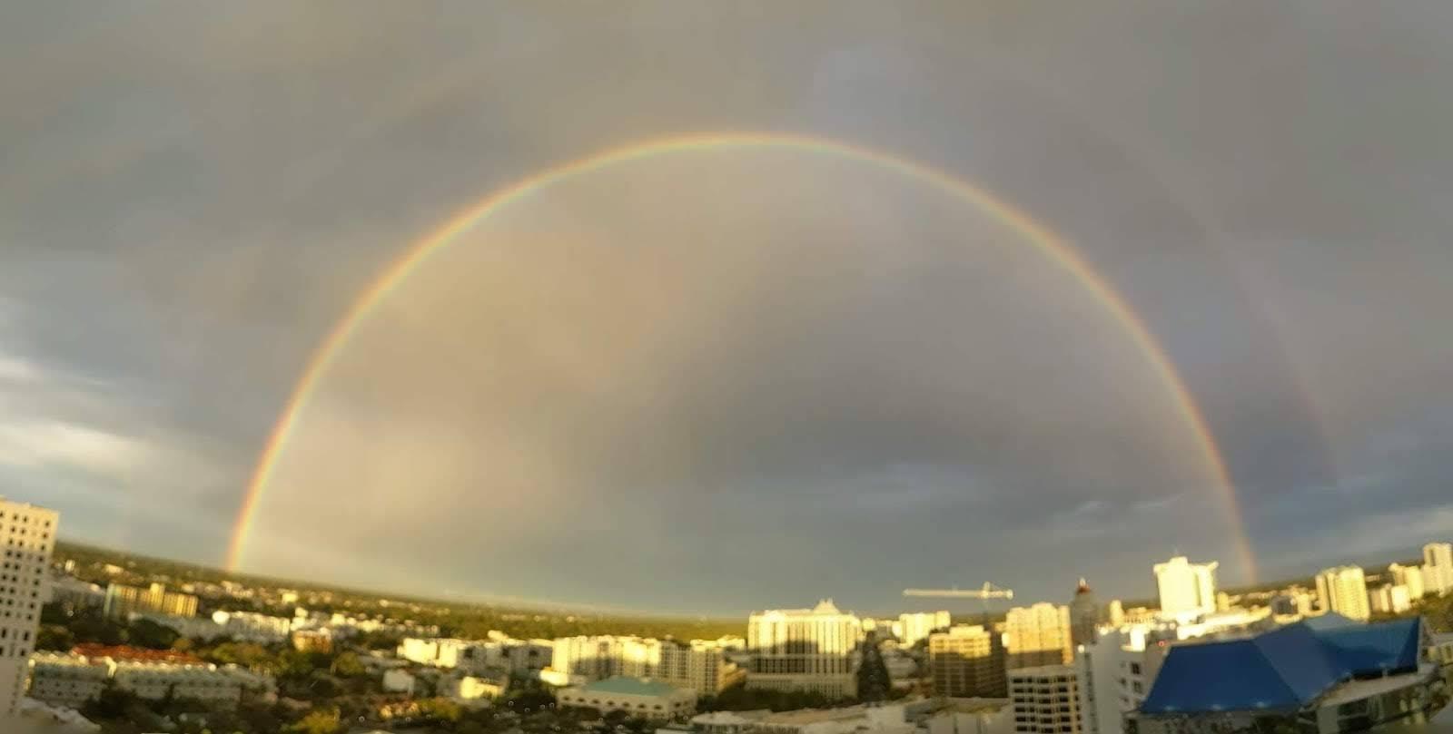 Rainbow Over Sarasota Feb 2019