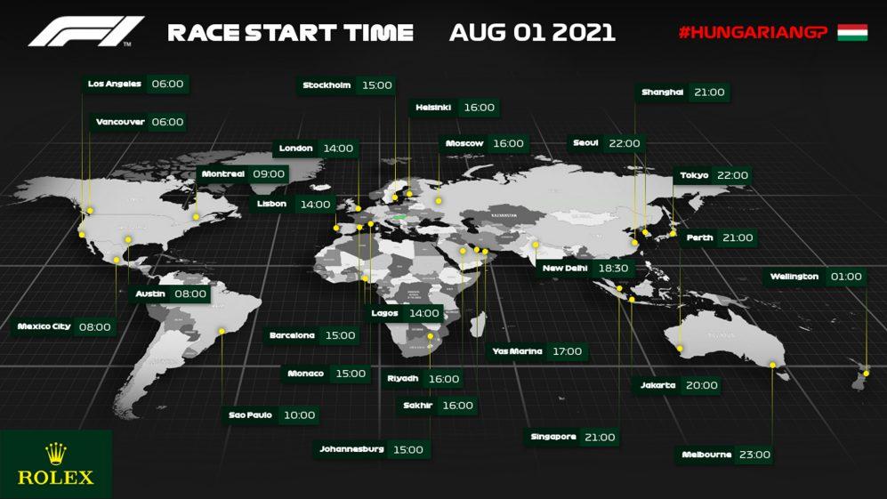 Confira a que horas começa o Grande Prêmio da Hungria de 2021 na sua região