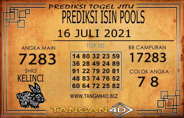 PREDIKSI TOGEL ISIN TANGAN4D 16 JULI 2021
