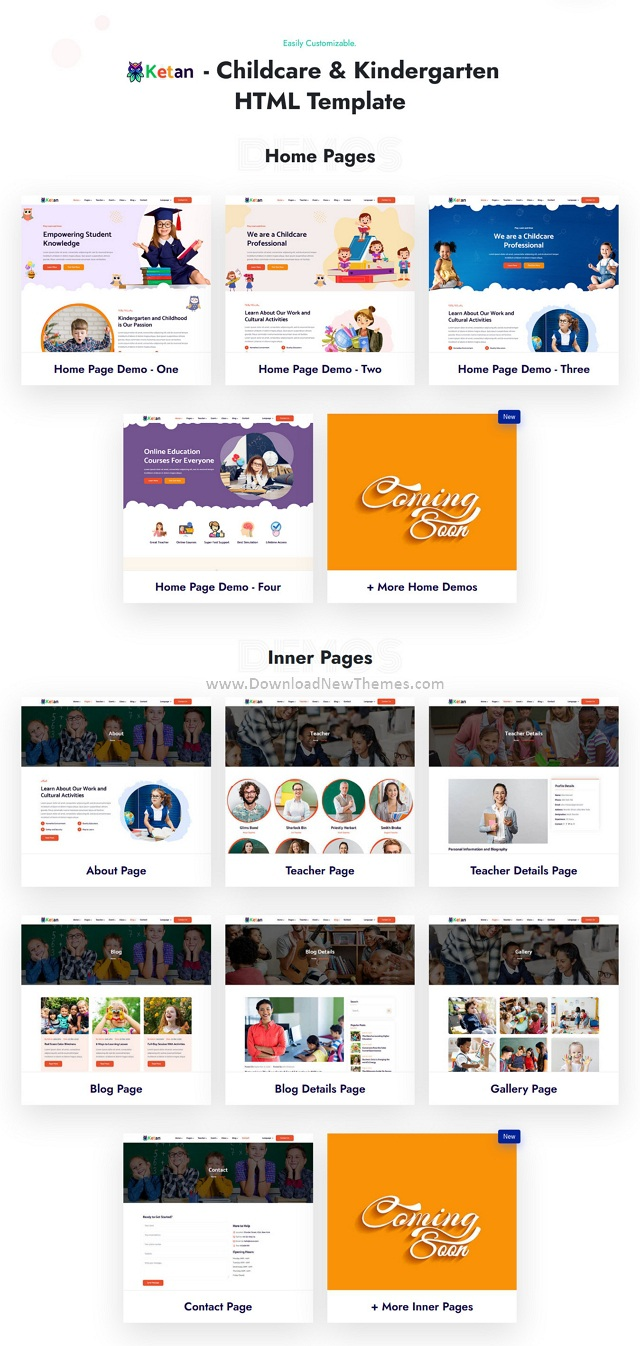 Childcare and Kids School HTML Template