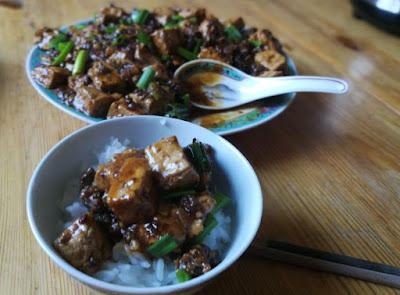 Mapo Doufu (Mapo-Tofu aus Sichuan)
