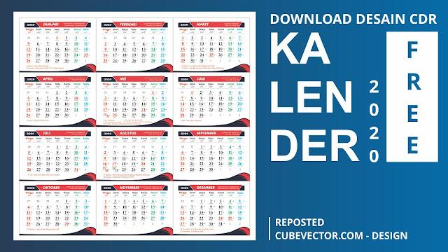 Kalender 2020 Masehi Format CDR Free Download