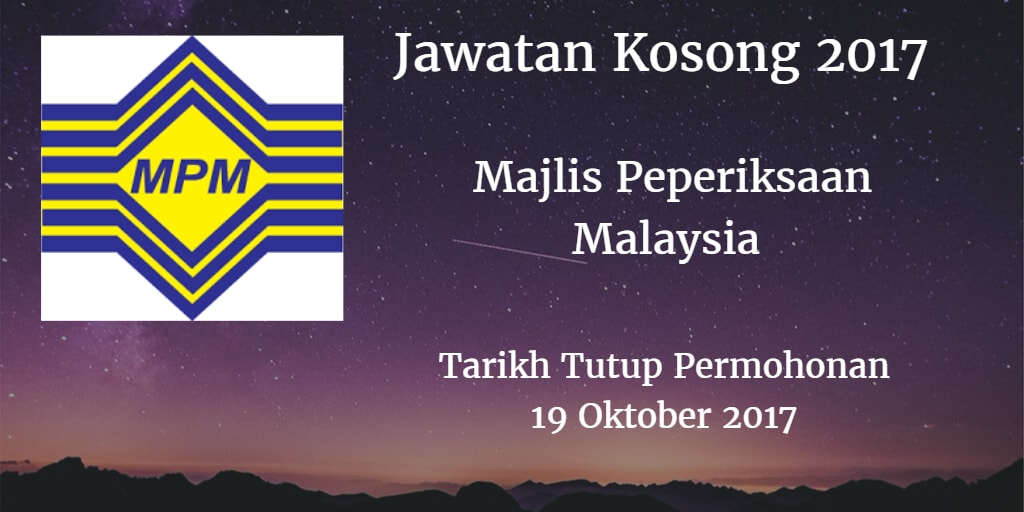 Jawatan Kosong MPM 19 Oktober 2017