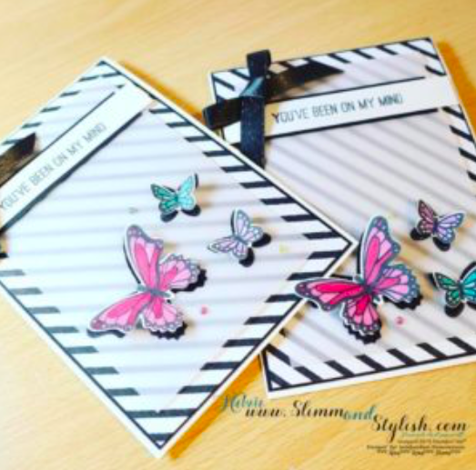 Botanical butterflies Stampin Up Nigezza Creates