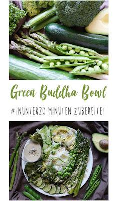 Green Buddha Bowl | zubereitet #inunter20minuten | vegan, vegetarisch, schnell, lecker | judetta.de