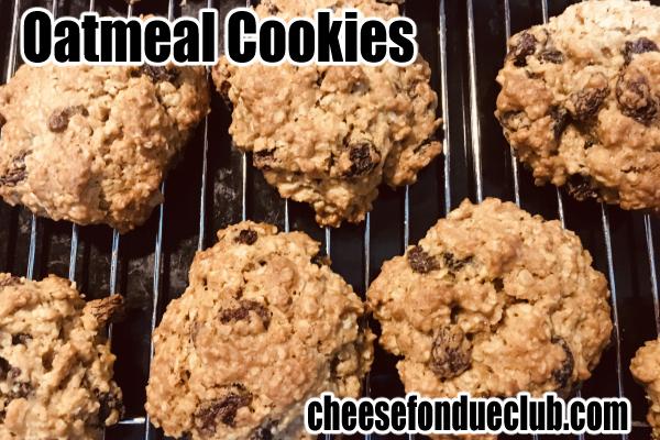 クラッシックなアメリカン・オートミールクッキーのレシピ oatmeal cookies