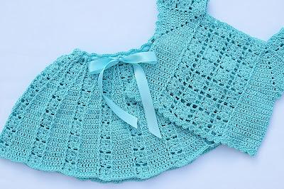 4 - Crochet Imagen Falda a conjunto con blusa veraniega a crochet y ganchillo por Majovel Crochet