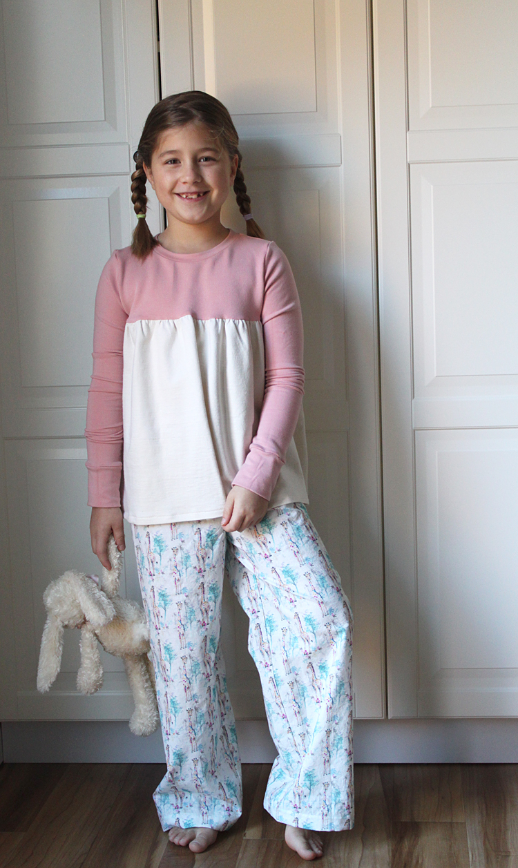 All You Need Jammies - Gathered Top // Sewing For Girls