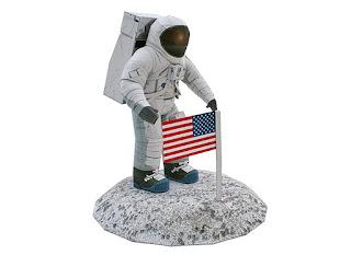 DIY Papercraft Astronot Amerika Luar Angkasa 3D Realistis craft