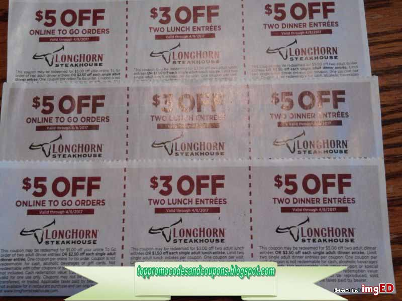 This is a picture of Adaptable Longhorn Steakhouse Coupons Printable 2014