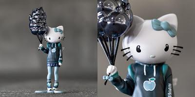 Designer Con 2019 Exclusive Hello Kitty Feeling Blue Edition Vinyl Figure by Candie Bolton x BAIT x Kidrobot