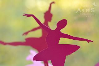 Balerine decupate din carton roz pentru decoratiuni florale sau numere de masa