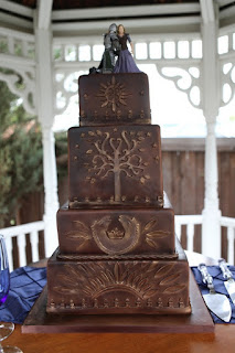 Perfect Lord of The Rings LOTR Wedding Cake