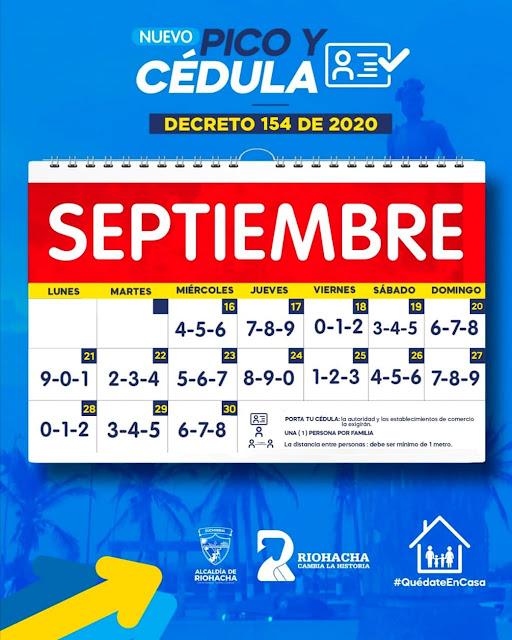 hoyennoticia.com, Sigue pico y cédula en Riohacha hasta el 30 de septiembre