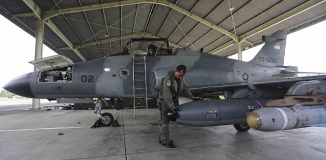 Pesawat Hawk 200 Milik TNI AU Jatuh Di Riau