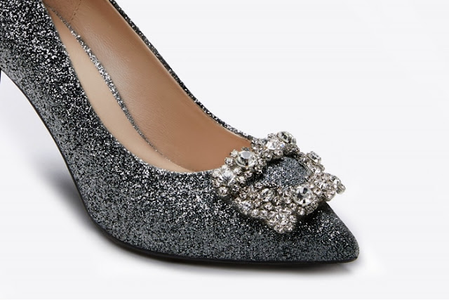 Pazzion, Pewter Sophisticated Heels, Black Sparkly Embellished Heels, Pazzion Shoes, Pazzion West Malaysia, Shoes, Shoe Review, Fashion