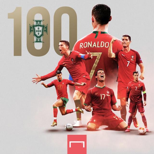 Cristiano Ronaldo scored 100th International Goal