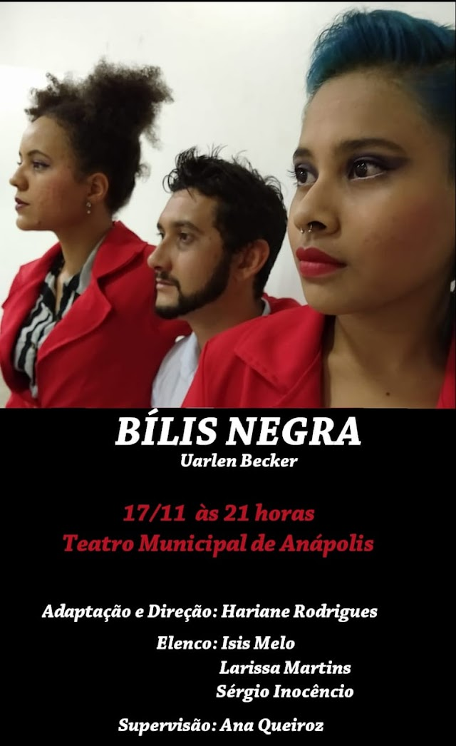 Anápolis: Teatro Municipal apresenta BÍLIS NEGRA