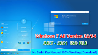 Download Free Windows 7 All Versions 32/64 Bit ISO July-2021