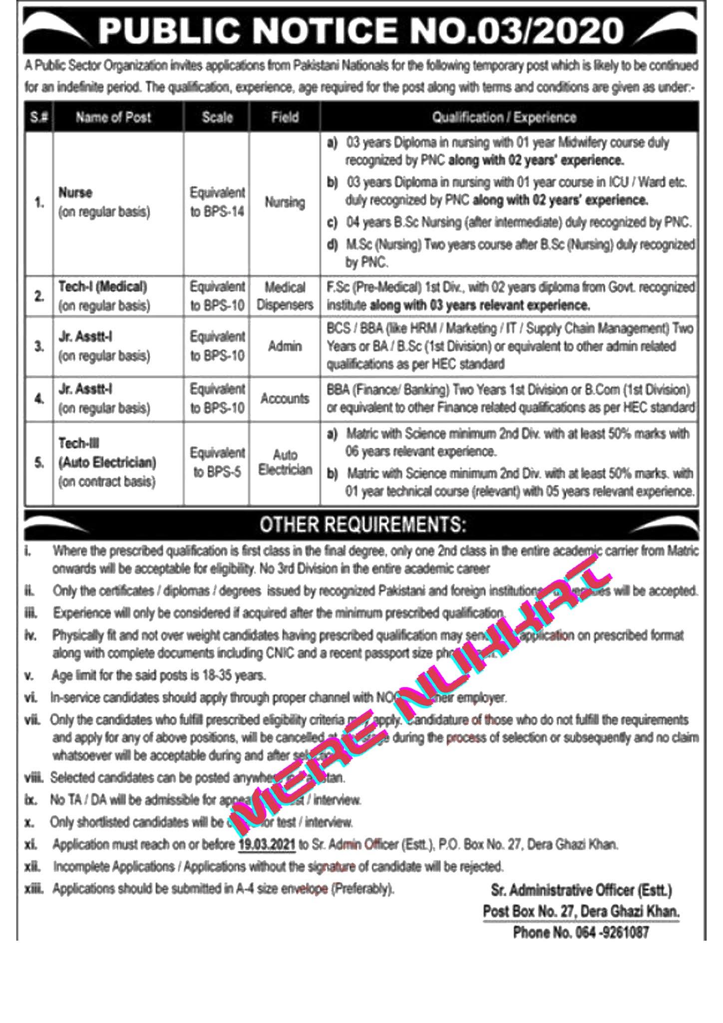 Pakistan Atomic Energy JOBS| PAEC Jobs 2021 | Po.Box 27 D.G.K