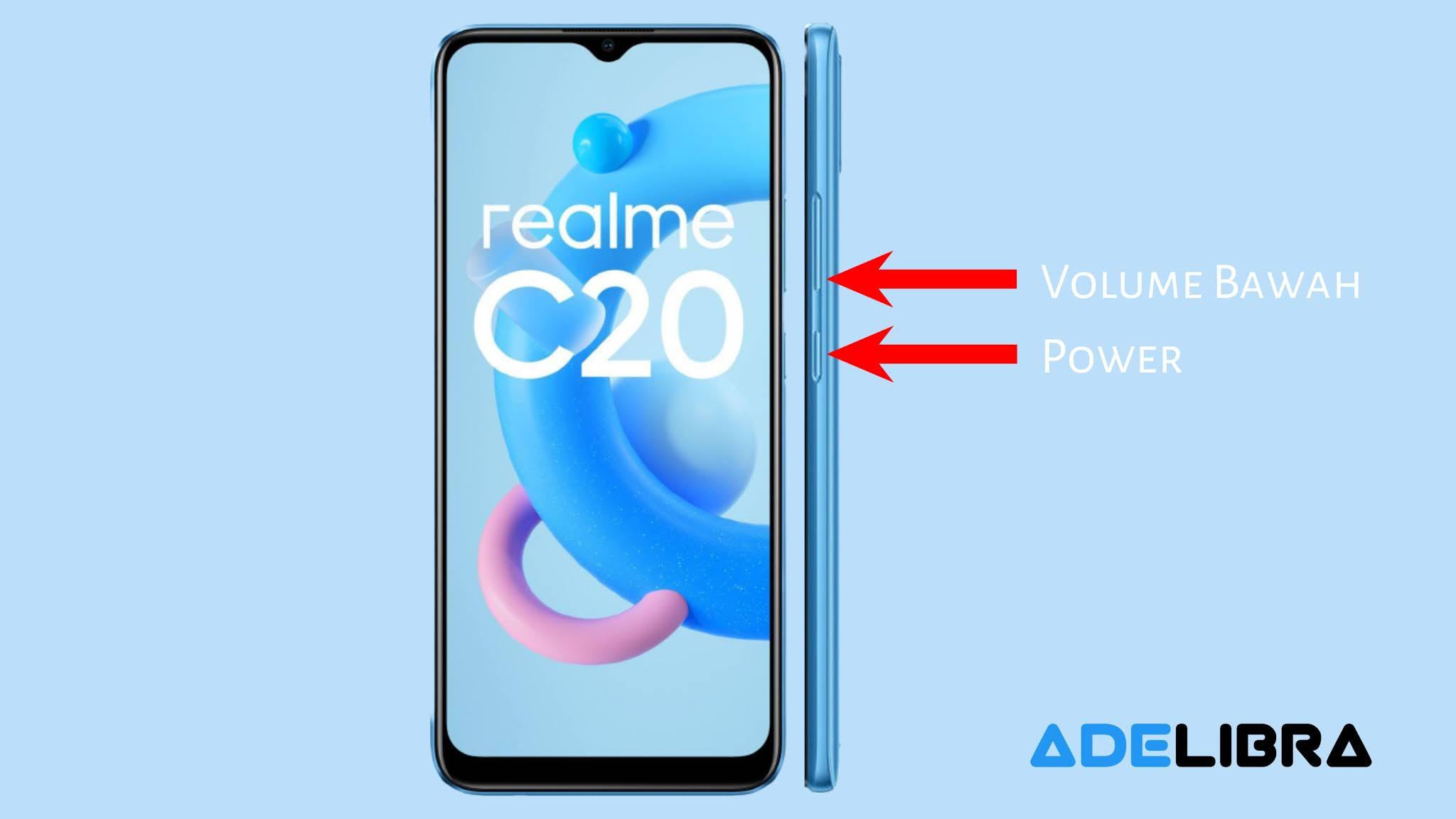 Take Screenshot In Realme c20 Using Key Combination
